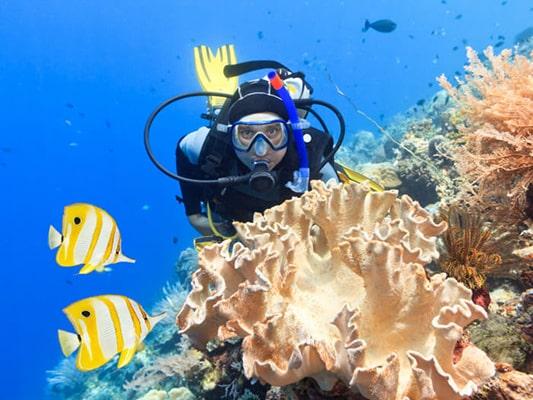 Descubre las mejores playas y calas en España para bucear: playas para hacer submarinismo y snorkel (bucear con unas gafas y un tubo a ras de agua).