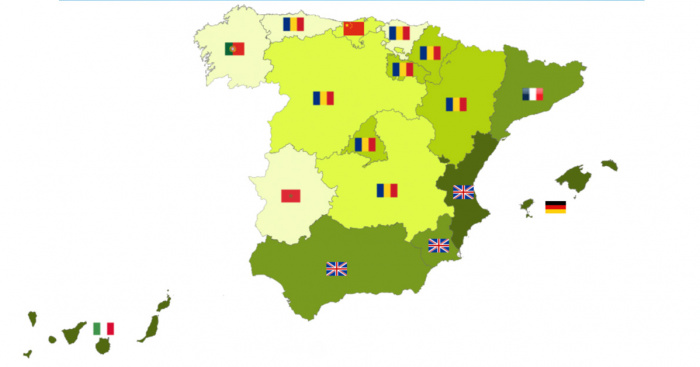 Map Of Tour Of Spain 2017.Here S How Foreigners Bought Their Homes In Spain In 2017 Large On