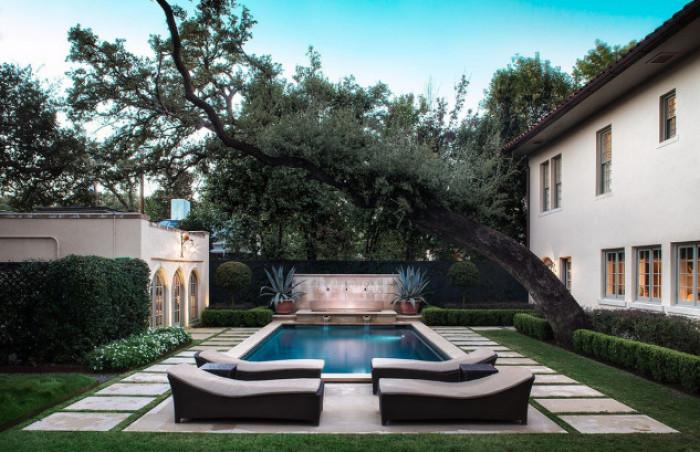 Garten und swimmingpool von lance armstrong