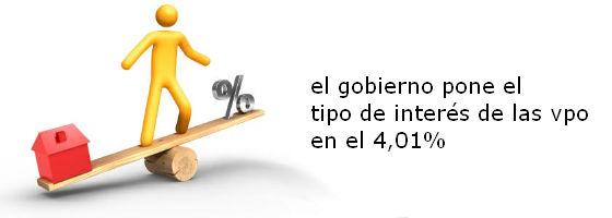 los que tengan una vpo del plan 2005-2008 pagarán un interés del 4,01%