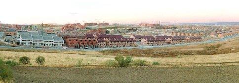panorámica de uno de los desarrollos urbanos al norte de madrid