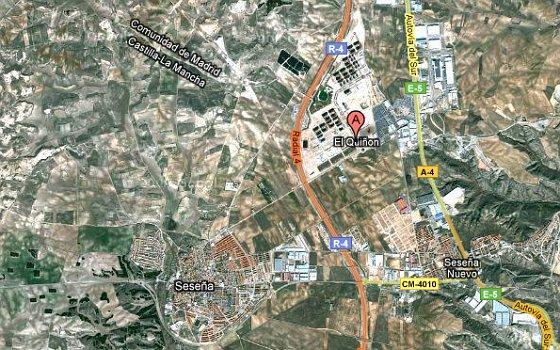 imagen de google maps del pau del quiñón en seseña