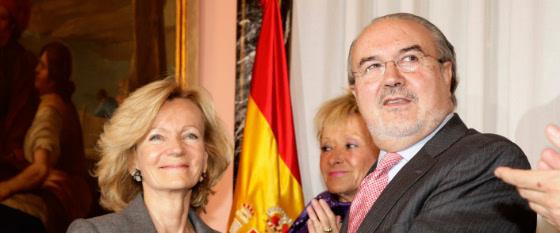 elena salgado y pedro solbes, los dos últimos ministros de economía de españa
