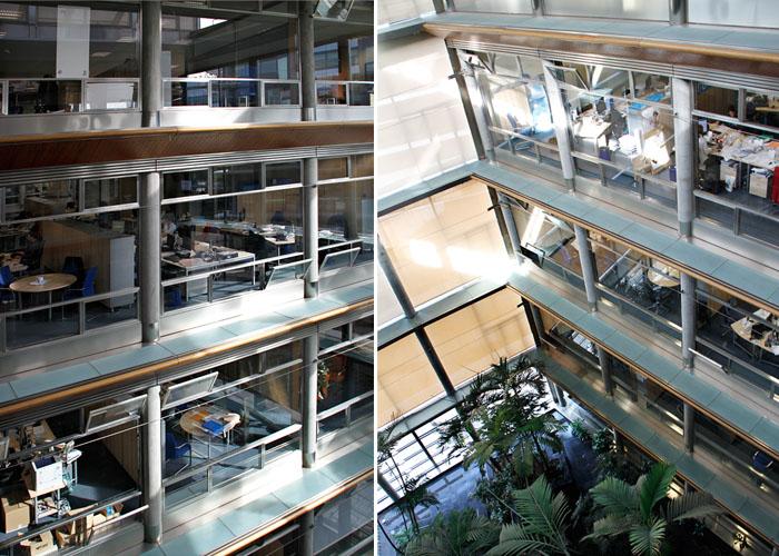 Sede sanitas fotos de sus ecol gicas oficinas en espa a idealista news - Oficinas centrales de sanitas en madrid ...