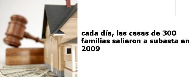 cada día más personas pierden su casa por no poder pagar la hipoteca