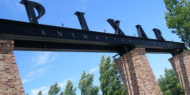 entrada principal de la sede de pixar en california