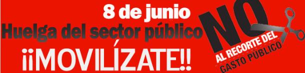 cartel de ccoo de apoyo a la huelga