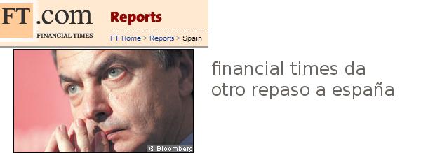 un especial de financial times critica y ofrece soluciones a la economía española