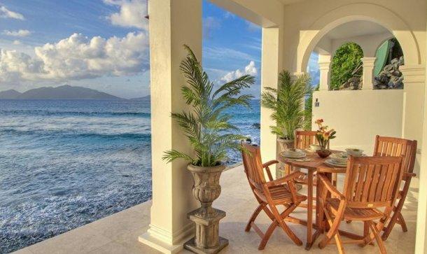 villa de lujo en el mar caribe