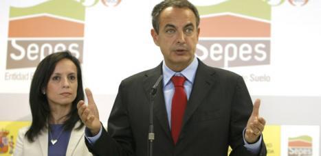 el presidente del gobierno, josé luis rodriguez zapatero, y beatriz corredor, ministra de vivienda