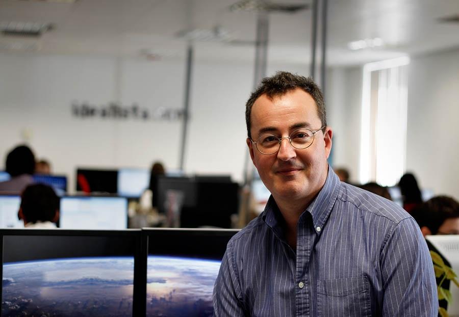 ed williams, co-fundador y consejero delegado de rightmove, en las oficinas de idealista.com