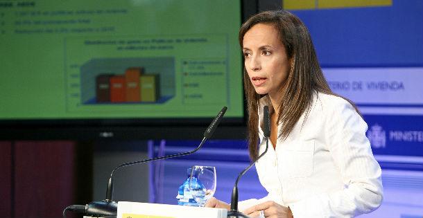 la ministra de vivienda en la presentación de los presupuestos 2011