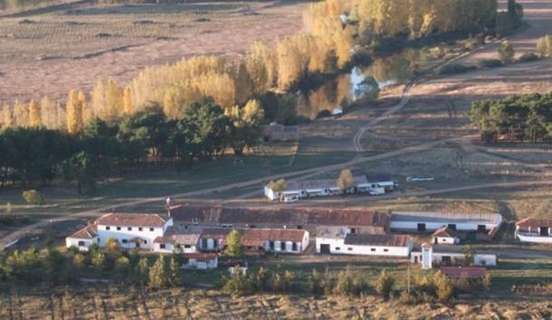 imagen aérea de riotuerto, provincia de soria
