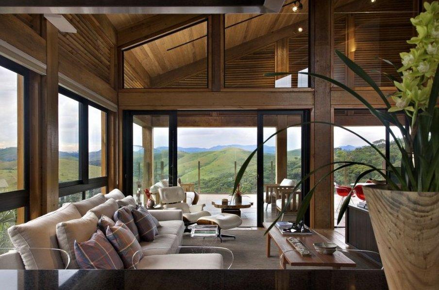 Desde brasil rural por fuera moderna por dentro - Casa modernas por dentro ...