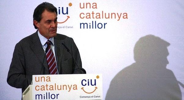 artur mas, líder de ciu, en un acto de la campaña electoral