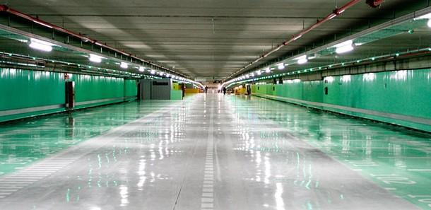 vista de la primera planta del nuevo aparcamiento de serrano en madrid