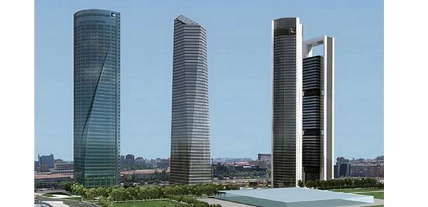 las cuatro torres, emblema de las oficinas exclusivas de madrid