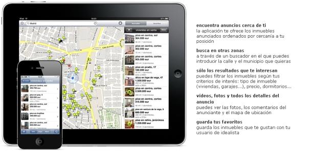 prueba la nueva aplicación de idealista.com para ipad y iphone