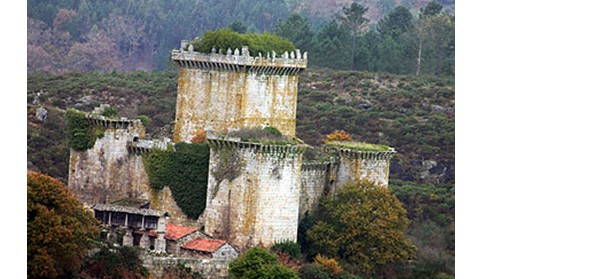 castillo de pambre, en la comarca de a ulloa, en lugo