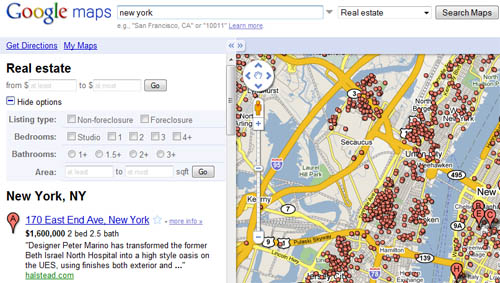 ejemplo de lo que ofrecía google en nueva york
