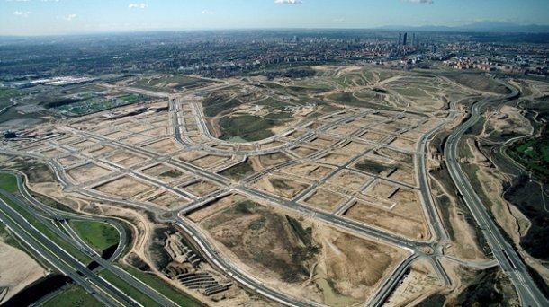 imagen aérea del pau de valdebebas (madrid)