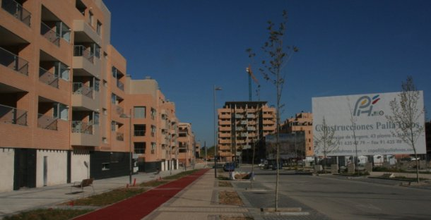 vista de viviendas en valdeluz