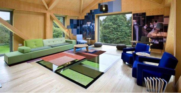 interior de la casa balancín