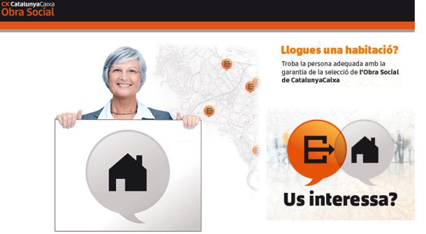 La Obra Social de CatalunyaCaixa ayuda a propietarios y jóvenes a alquilar una habitación