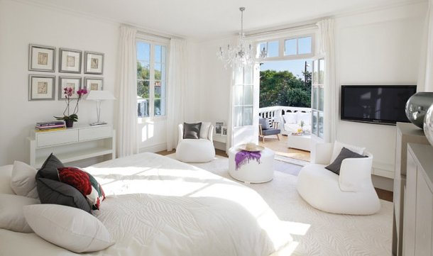 vistas de uno de los dormitorios suites con terraza