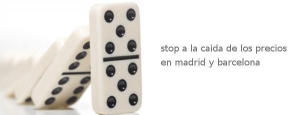 stop a la caída de precios en madrid y barcelona, no así en la costa