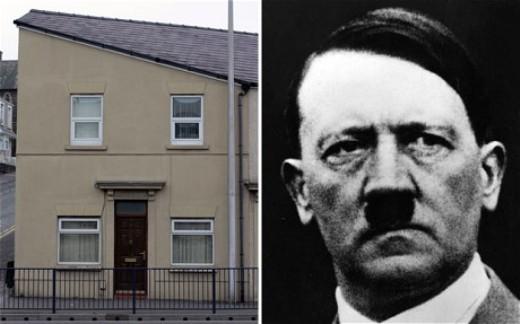 foto de la casa que ha saltado a la fama por su parecido con hitler