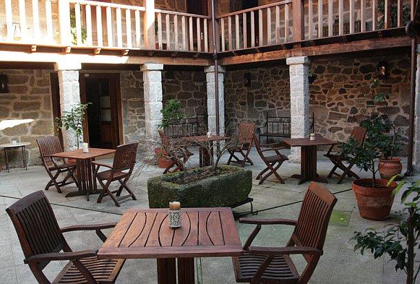 vista del patio interior del pazo