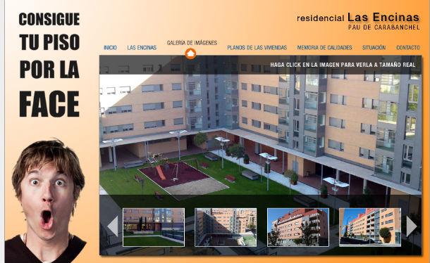 imagen de la web de la promoción