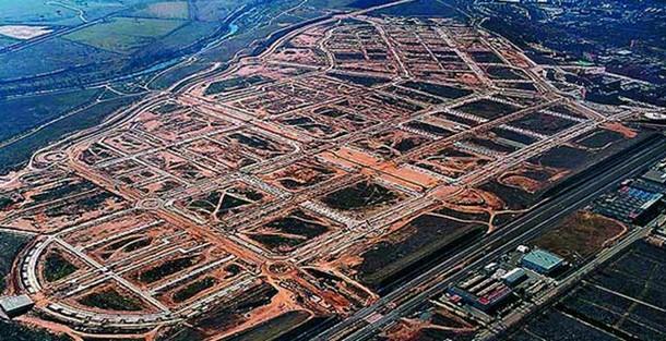 vista aérea de soto de henares, torrejón de ardoz