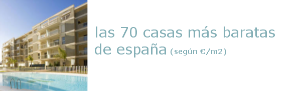 Las 70 casas nuevas más baratas de España (tabla)