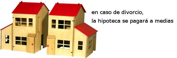 en caso de divorcio, la hipoteca se pagará a medias
