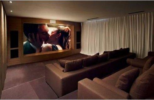 Los 7 detalles que piden los famosos a una casa - Sala cine en casa ...