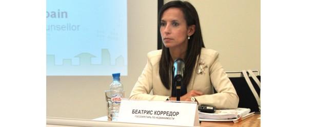 beatriz corredor, en la presentación del sector inmobiliario a inversores en moscú