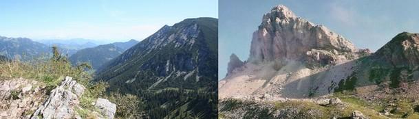 montañas rosskopf (izqda) y gran kinigat (dcha), fuente: jtriefen (by flickr) y montagna.tv, respectivamente