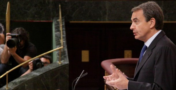 josé luis rodríguez zapatero, en un momento del debate sobre el estado de la nación