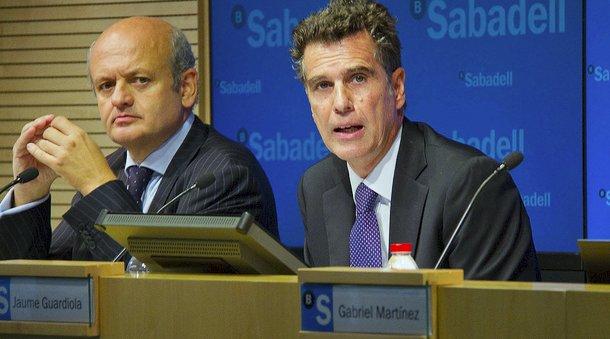 jaume guardiola, consejero delegado de banco sabadell, y Tomas Varela, director general adjunto