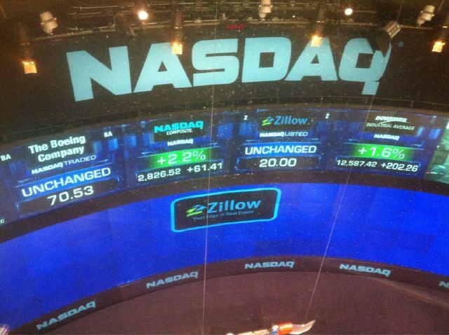 fotografía del estreno de hoy de zillow.com difundida por Spencer Rascoff, consejero delegado del portal