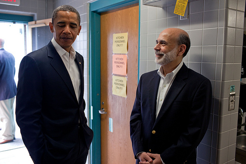obama y bernanke (foto: usuario the white house en flickr)