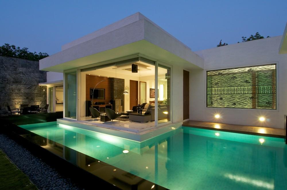 bungaló minimalista con jacuzzi -india
