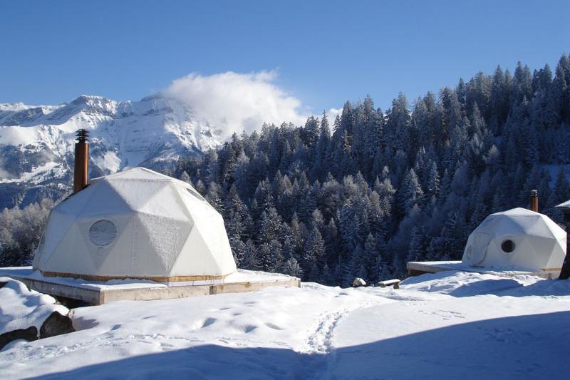 resort whitepod para los auténticos amantes del esquí
