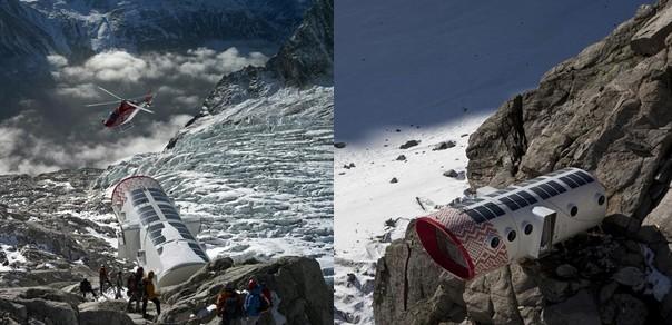 el refugio gervasutti, una proeza de la ingeniería en los alpes