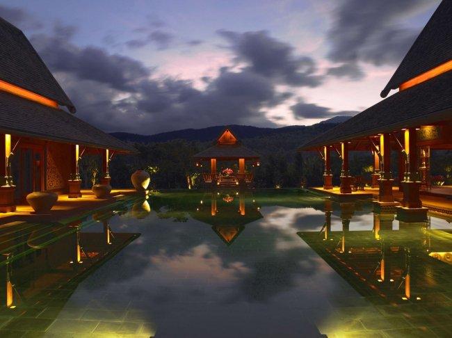 Santuario de lujo en los alrededores del himalaya
