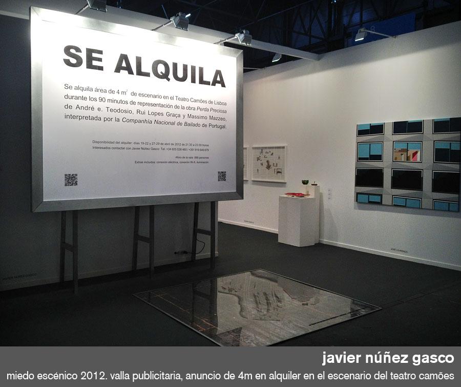stand del artista español javier núñez gasco en arco