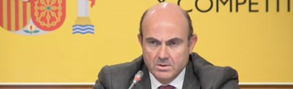 Sigue en directo la rueda de prensa del ministro de economía sobre la reforma financiera