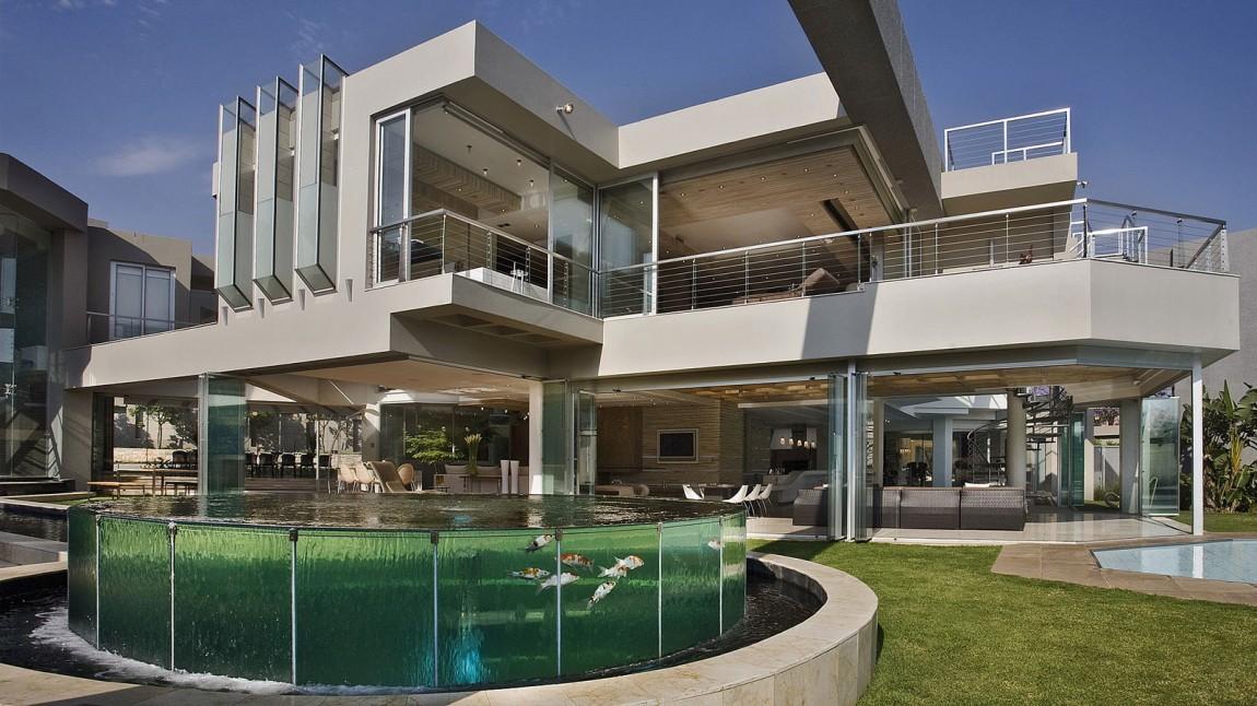 vivienda contemporánea de cristal - sudáfrica